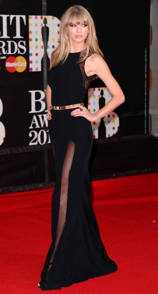 Taylor Swift..The Brit Awards, Arrivals