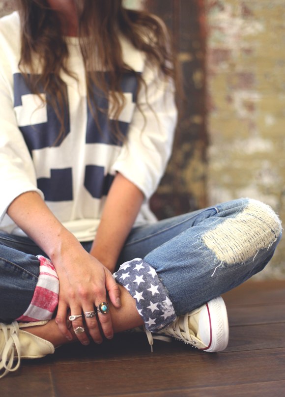 LOVELY DIY PIECES OF CLOTHES WITH FLAGS