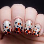 15 Gradient Polka Dot Nail Art Designs