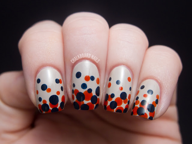 15 Gradient Polka Dot Nail Art Designs