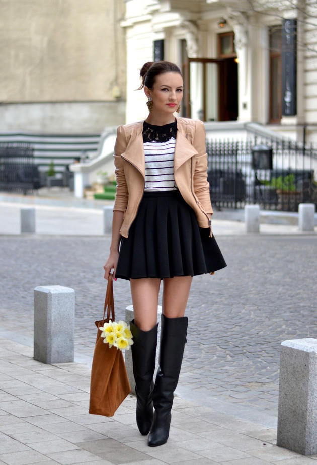 15 Pretty Combinations With Winter Skirts For The Cold Weather