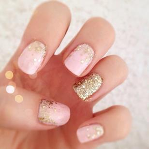 gold pink nails article