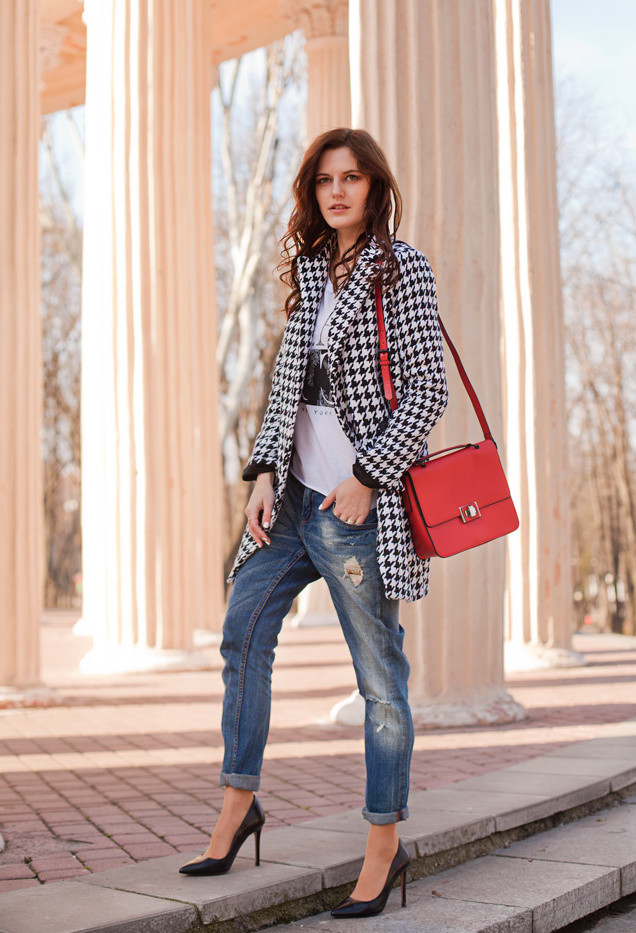 15 Inspiring And Sylish Outfits In Houndstooth Print For The Winter