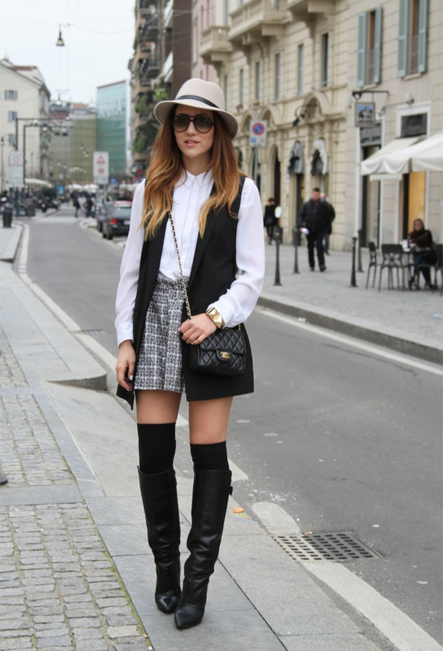 15 Chic And Stylish Ways To Wear Over The Knee Socks