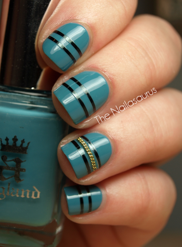 21 Cute Nail Art Designs Using Tape