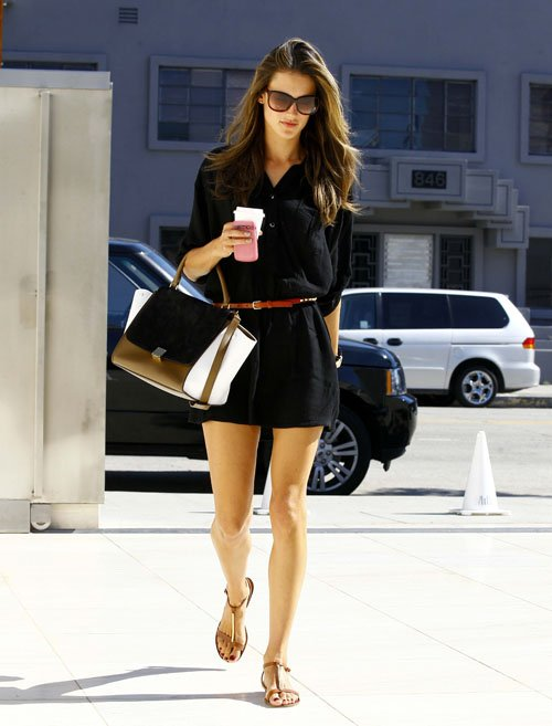 Alessandra-Ambrosio-Celine-Trapeze-Bag-Tory-Burch-Pacey-Sandals