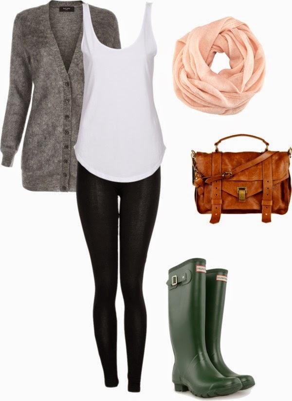 Conjuntos u Outfits para días con lluvia 19