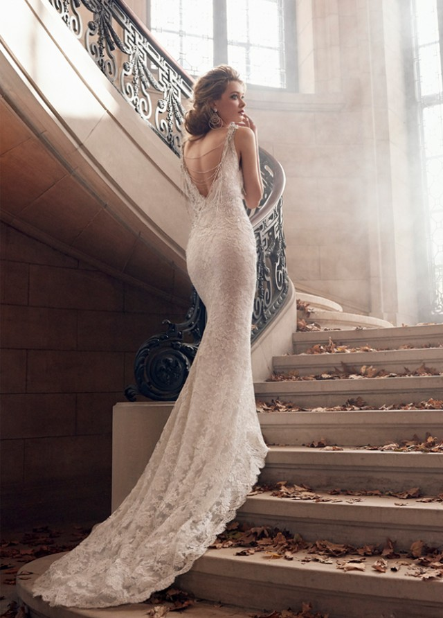 lazaro-bridal-alencon-lace-trumpet-v-neckline-beaded-necklace-jeweled-appliques-natural-chapel-train-3501_zm