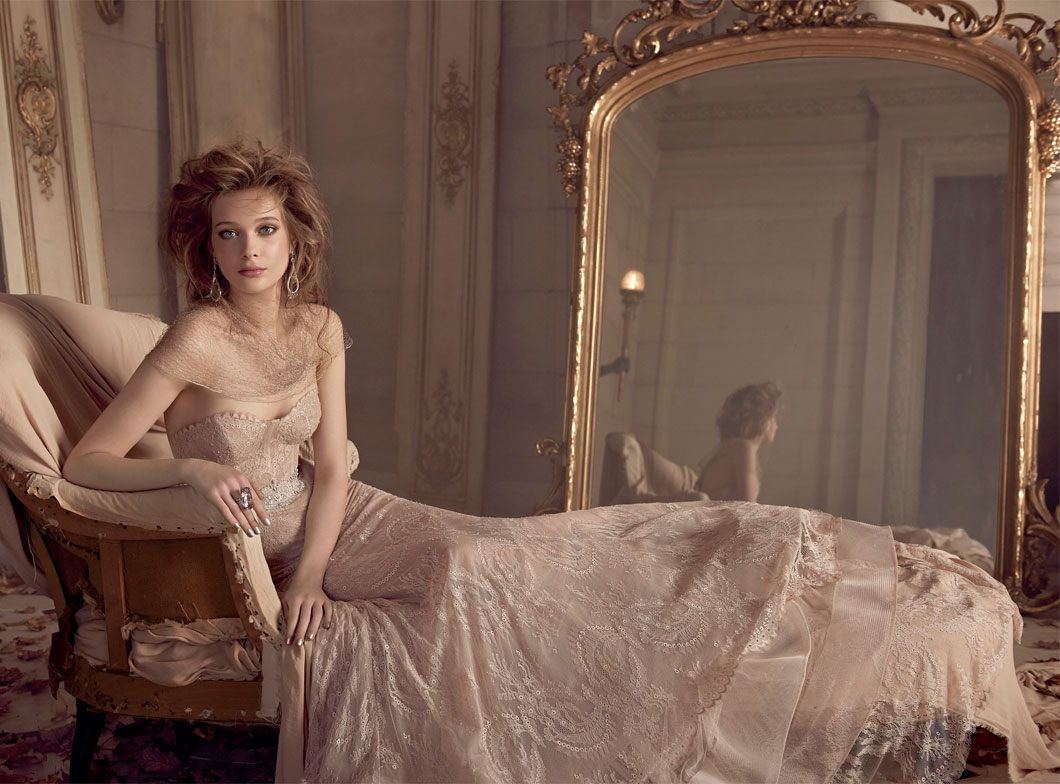 TIMELESS WEDDING DRESSES BY LAZARO FOR SPRING 2015