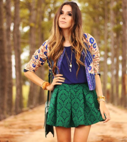 romwe-dark-green-skirts