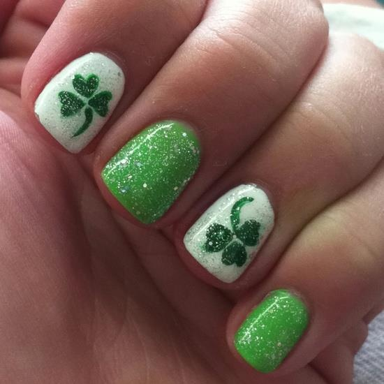 St Patrick39;s Day Nail Art Along With Easy Nail Art St Patrick39;s Day