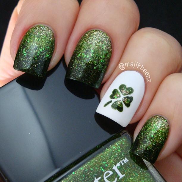 16 St.Patrick\'s Day Nail Art Designs