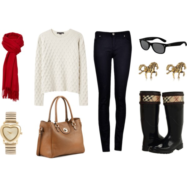 15 Awesome Rainy Day Polyvore Outfits