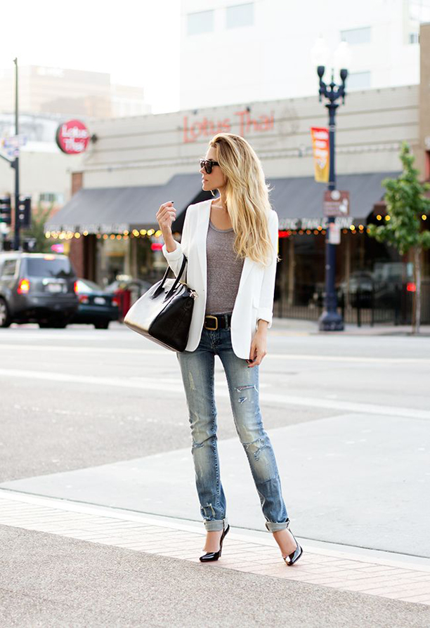 15 Street Style Looks Incorporating White Clothes