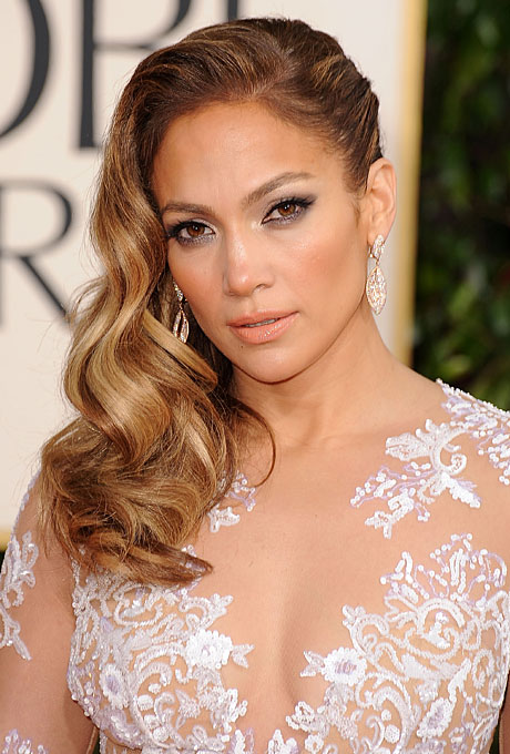 celebrity-inspired-wedding-hairstyles-golden-globes-2013-jennifer-lopez