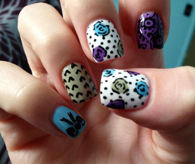 17 Marvelous Floral Nail Designs For Short Nails