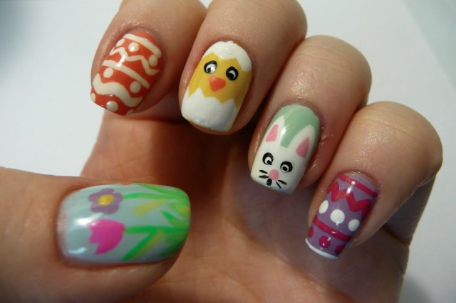 nail-art-designs-easter-nail-designs-with-rabbit-and-flowers-pattern-easter-nail-designs