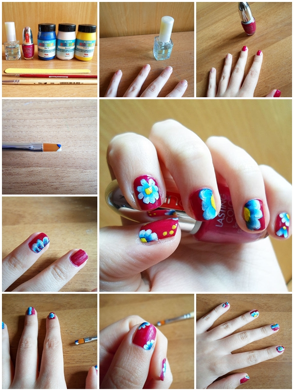 16 floral nail tutorials to try out this spring stylish talking draw some flowers on your nails and enjoy the spring with style check these tutorials out and inspire yourself enjoy and have fun solutioingenieria Choice Image