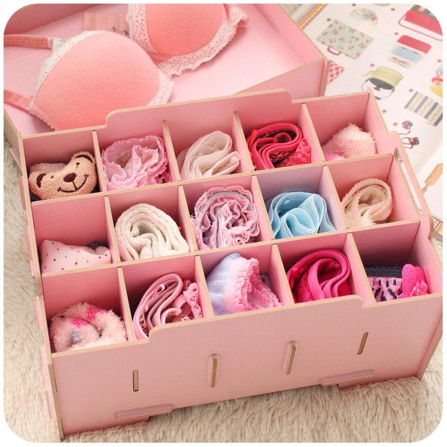 Hearts . fresh diy wool brief underwear bra storage box with lid panties socks finishing box