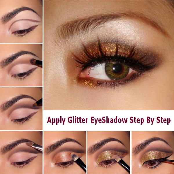 How-To-Apply-Glitter-EyeShadow-Step-By-Step-Makeup-Tips