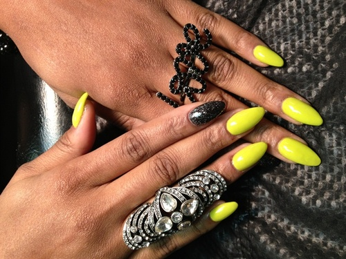 Neon-Rounded-Stiletto-Nails