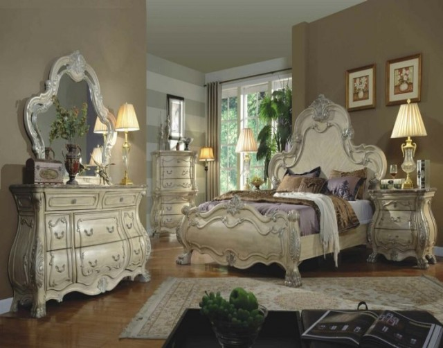 20 ultra luxurious mirrored furniture designs for your bedroom for Bedroom accessory furniture