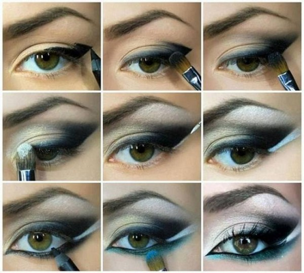 Smokey-Eye-Makeup-Tutorial-For-Blue-and-Brown-Shades2-600x539