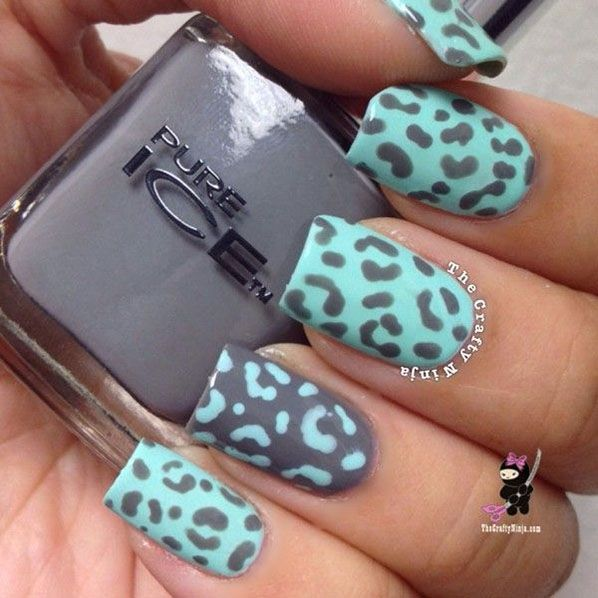 Turquoise-Leopard-Animal-Print-Nail-Art