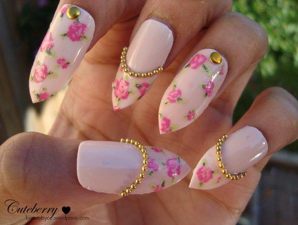 Vintage-Rose-Stiletto-Nails