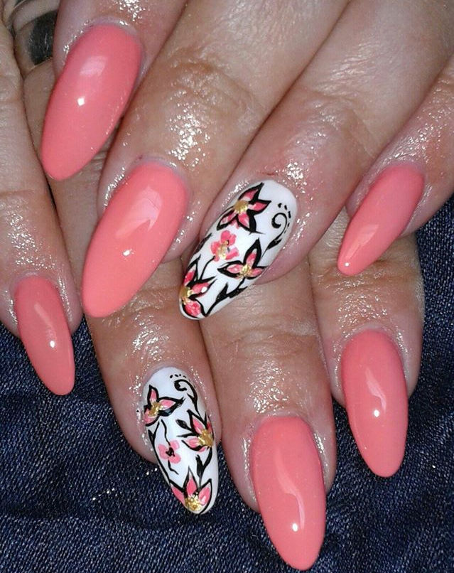 coral-nails-flower-art-design