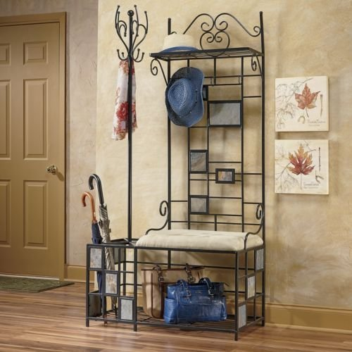 entryway-storage-bench-with-coat-rack