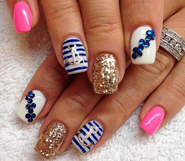 girly-navy-glitter-fabulous-nails