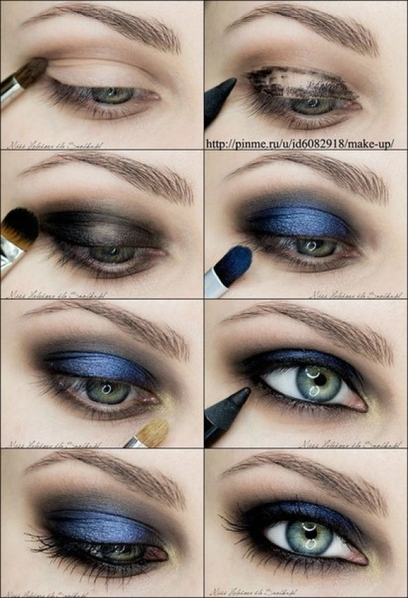 makeup-tutorial-for-blue-eyes-and-brown-hair