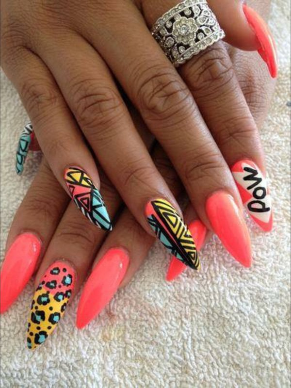 pink-pop-stiletto-nails