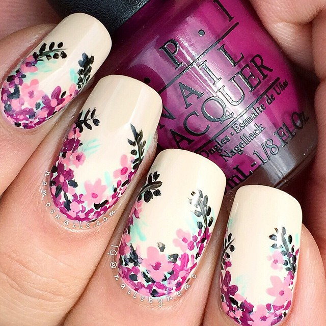 21 Marvelous Floral Nails To Try This Spring