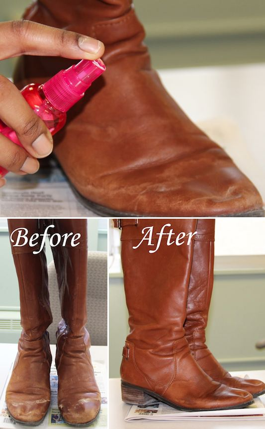 24.-How-to-remove-salt-stains-from-boots-31-Clothing-Tips-Every-Girl-Should-Know-leather