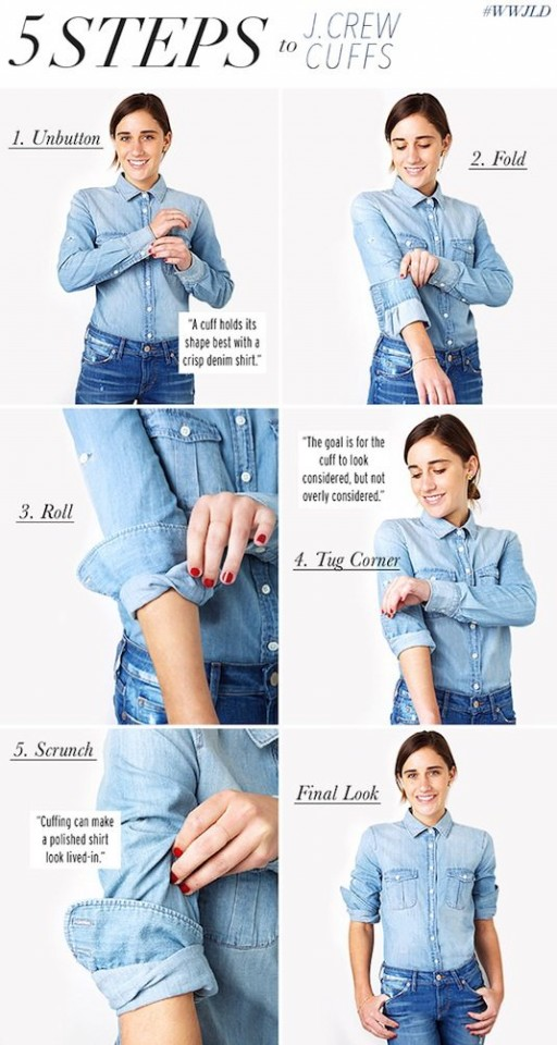 31-Clothing-Tips-Every-Girl-Should-Know-cuffed-sleeves
