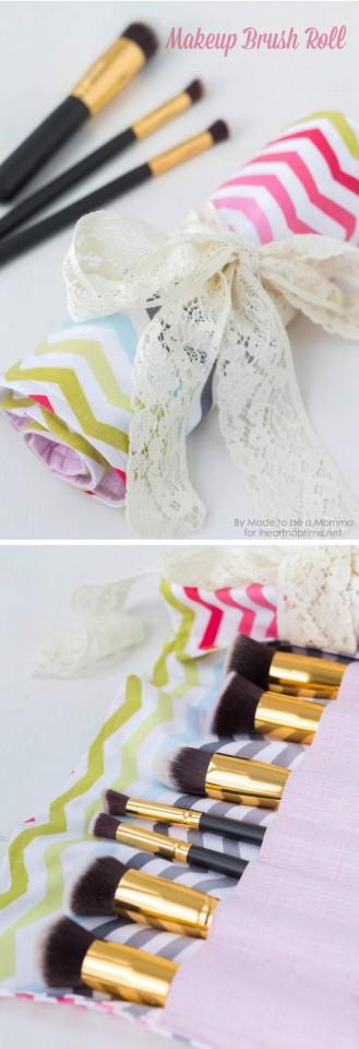 DIY-makeup-brush-roll