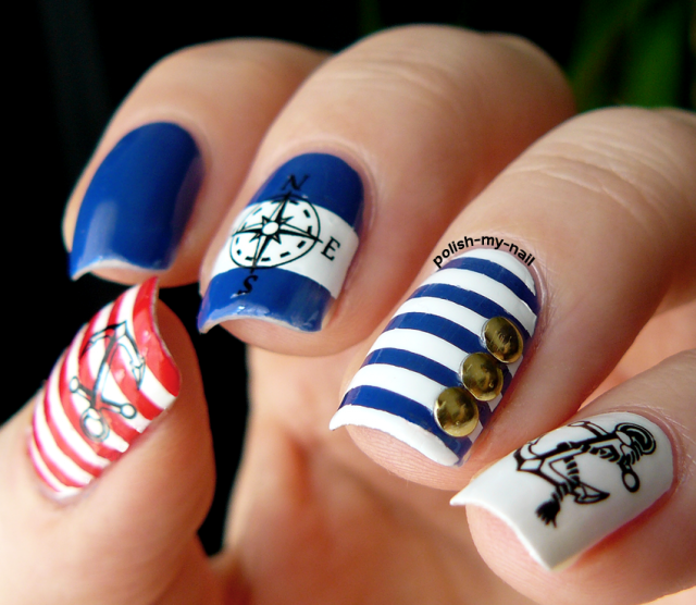 15 Fashionable Nail Designs With Anchor Patterns For Summer Styles