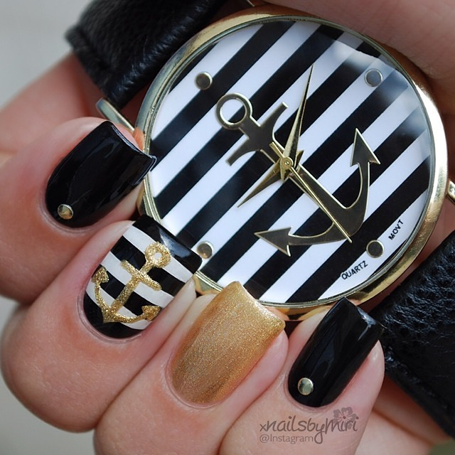 15 Fashionable Nail Designs with Anchor Patterns for Summer | Styles ...