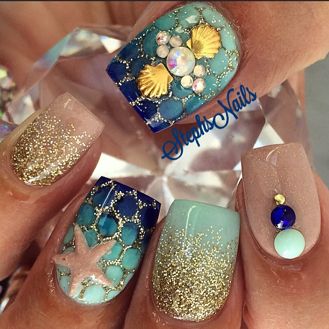 Amazing Ocean Inspired Nail Art Designs To Try This Summer