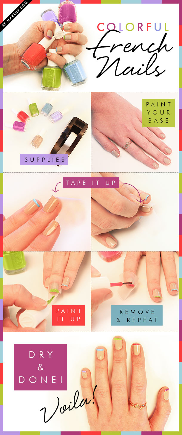 Colorful-French-Nails