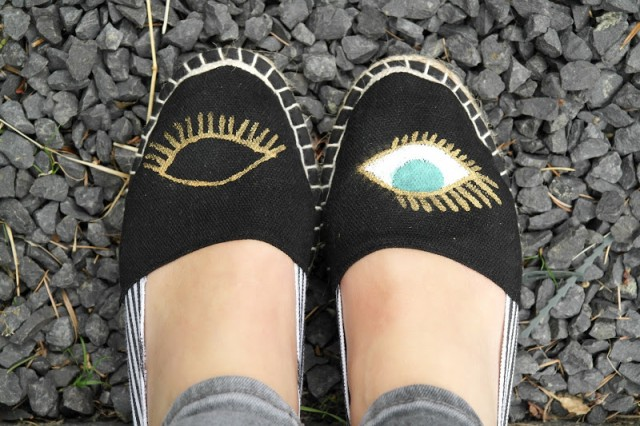 DIY Eye Wink Espadrilles 004 The result of your eye espadrille Former Parades