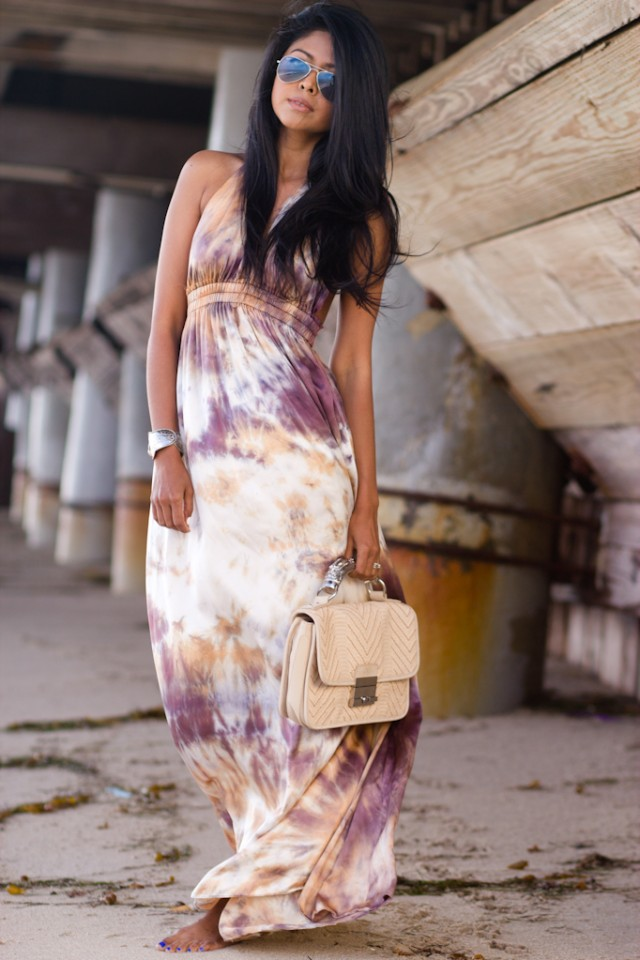 Love Shack Fancy Silk Halter Dress - Monika Chiang Raja Clutch - Ray Ban aviators - walk in Wonderland - Sheryl luke-8