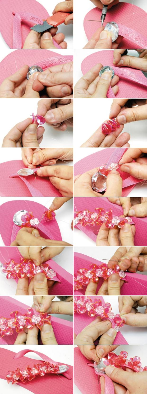 diy-summer-ideas-pink-flip-flops-embellished-beads