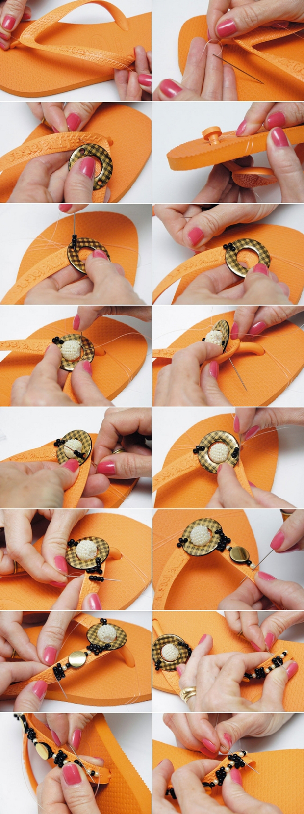 handmade-flip-flops-decorations-orange-black-gold