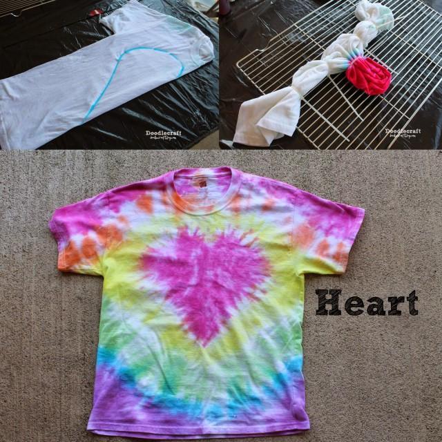 heart shaped tie dye shirt pattern easy diy