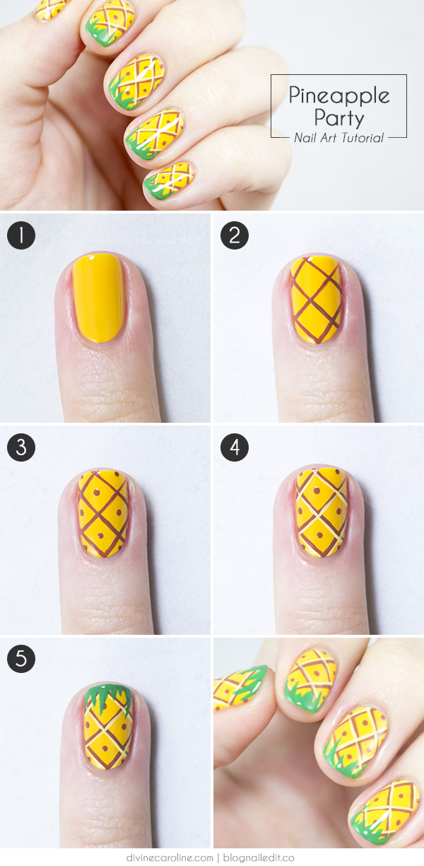 pineapplenail_stepbystep