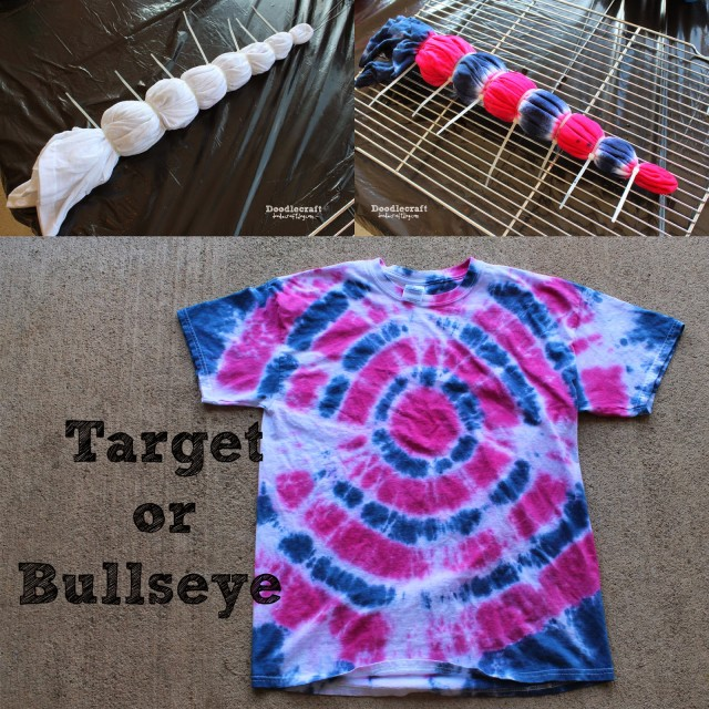 target or bullseye tie dye shirt pattern easy diy