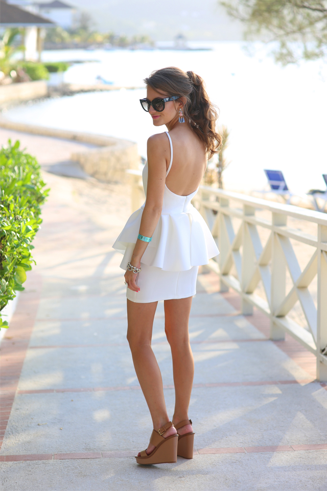 white dress with low back